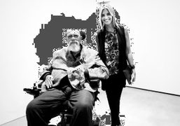 Chuck Close andGenevieve Bahrenburg,who is currently working on book aboutChuck Close's work,atZhang…