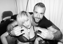 Rita Ora and Philipp Plein after the Philipp Plein F/W 2014 show,…