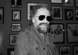 French writer Simon Liberati at the Kenneth Anger exhibition opening at Galerie…