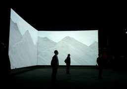 "Doug Aitken's ""Altered Earth"" opening with a performance by Terry Riley at..."