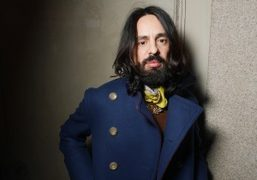 Gucci's new designer Alessandro Michele at the Vogue Italia Talents Corner cocktail…