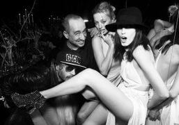Olivier Zahm, Saif Mahdhi, Caroline Vreeland and Anna Cleveland at the Philipp…