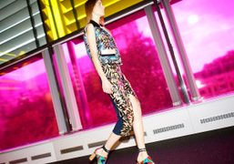 Peter Pilotto S/S 2015 show at the Queen Elizabeth II Conference Centre,...