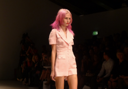 A look from PPQ's SPRING / SUMMER2012 Show at Somerset House, London.Photo…