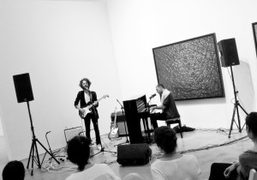 Mistri Misrach performing at the Pace gallery, New York. Photo Alexis Dahan