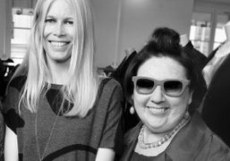 An amazing photo of Claudia Schiffer and Suzy Menkes at the launch…