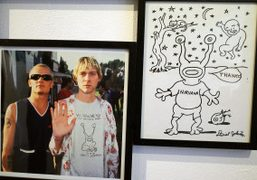 "Daniel Johnston ""Welcome To My World"" exhibition at Arts Factory, Paris"