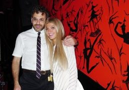 Sarah Hoover and Tom Sachs celebrating their engagement with friends and family…
