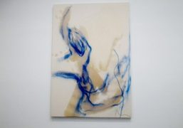 A new work by Rita Ackermann on view at Luhring Augustine, New…