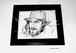 A portrait of Dash Snow by his friend Kunle on view at…