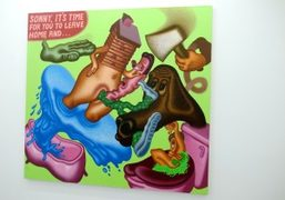 A great work by the American artist Peter Saul included in Marlborough…