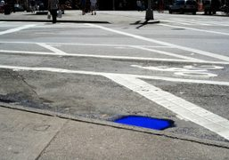Blue Puddles in New York by Alexis Dahan, New York