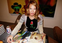 Rita Ackermann at the book signing of her beautiful new monograph published…