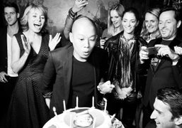 Jason Wu celebrating his birthday at Lapérouse, Paris. Photo Stéphane Feugère