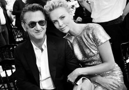 Sean Penn and Charlize Theron at the Dior Haute Couture F/W 2014/15…