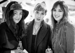 Tamara Cincik, Paula Goldstein and Valentine Fillol-Cordier at the opening of & Other Stories 1st global…