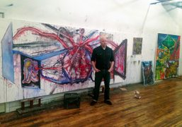 Steve DiBenedetto at his studio in Long Island City. His upcoming exhibition,…
