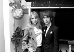 British model Suki Waterhouse(in her Je t'aime Miles Kane T-shirt) and her…