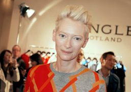 Tilda Swinton at the Pringle of Scotland S/S 2014 presentation, London. Photo Flo Kohl