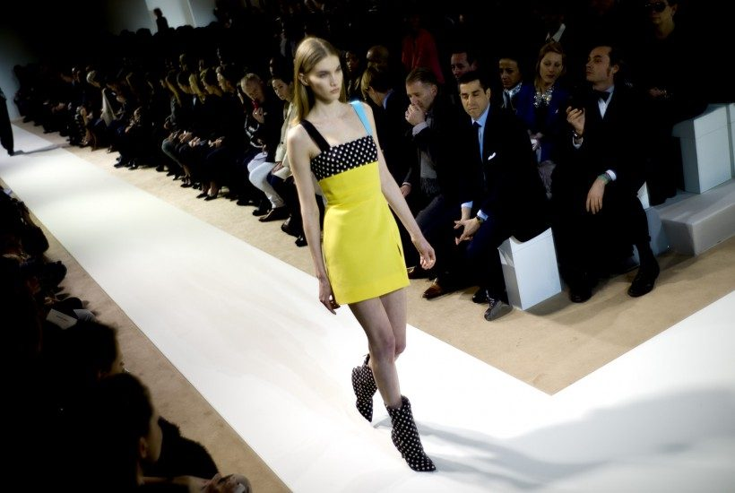 One look from the Emanuel Ungaro F/W 2013 show, Paris.