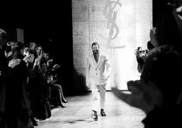 Stefano Pilati after his last collection forYves Saint Laurent F/W 2012 Show,…