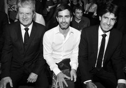 Yves Carcelle, Marc Jacobs and CEO of Louis Vuitton Jordi Constans at the Louis…