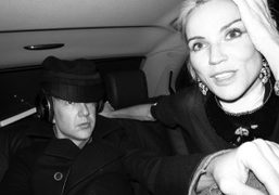Jefferson Hack and Daphne Guinness during Paris couture week