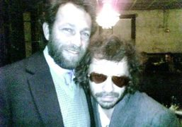 Mark Gonzales and Olivier Zahm at the Purple dinner, Soho House, New…