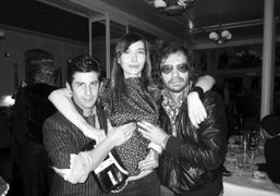Andre, Natalya Maximova and Olivier Zahm after a dinner in Andre's new…