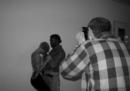 Kanye West and Amber Rose at Terry Richardson's studio, New York