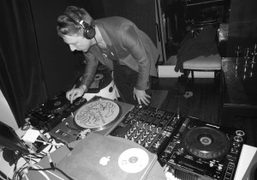 Jefferson Hack DJing at Alice Temperley's party at her Soho loft and…