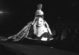The Marilyn Monroe long gown to close the Dolce & Gabbana show,…