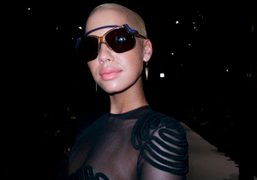 Kanye West's girlfriend Amber Rose at the Hussein Chalayan F/W 09/10 show,…