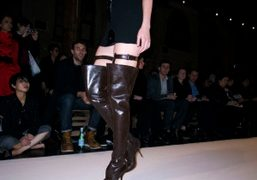 Hussein Chalayan's leather boots at the F/W 09/10 show, Paris. Photo Olivier…