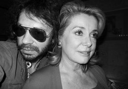 Olivier Zahm and Catherine Deneuve during the Yves Saint Laurent private dinner…