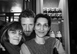 Cathy Horyn, Stefano Pilati and Louise Neri at Caviar Kaspia for the…