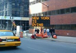 A traffic sign on Broadway and 4th Street, New York. Why would…