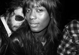 Olivier Zahm and Madji, Guillaume Salmon's sexy girlfriend, during the private dinner…