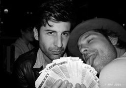 André and Aaron Young at Le Montana, Paris. Photo Olivier Zahm