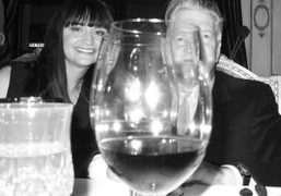 David Lynch and his wife at the dinner to celebrate the opening…