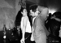 Cecilia Dean and Derek Blasberg dancing at Le Baron, Moscow. Photo Olivier…