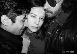 André, Olivier Zahm and Anna Dyulgerova who organized this Moscow visit (Cycles…