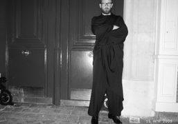 Stefano Pilati's new ultra-chic Franciscan look, Paris. Photo Olivier Zahm