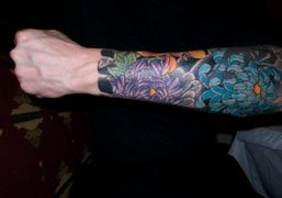 Stefano Pilati's new floral tattoo. Absolutely beautiful, Paris. Photo Olivier Zahm