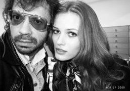 Olivier Zahm and Edita during the K by Karl Lagerfeld shoot at…