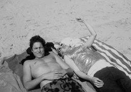 Vito Schnabel and Terence Koh on the beach, The Hamptons. Photo Terence…