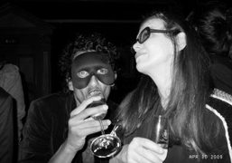 Haider Ackermann and Martine Sitbon dancing at the Acné Paper party at…