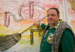 Jean pigozzi at Francesco Clemente's opening, Deitch projects, New York. Photo Olivier…