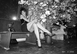 Paz de La Huerta at Francesco Clemente's afterparty in his beautiful old…
