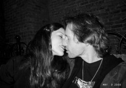 Milla Jovovich and Paul Anderson at the Bowery Hotel, New York. Photo…